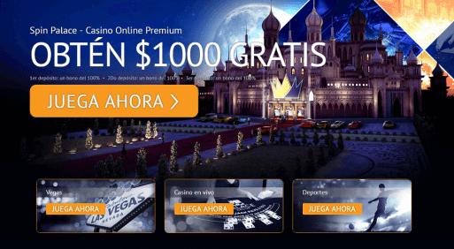 Apuestas ganadoras SpinPalace casino tipo