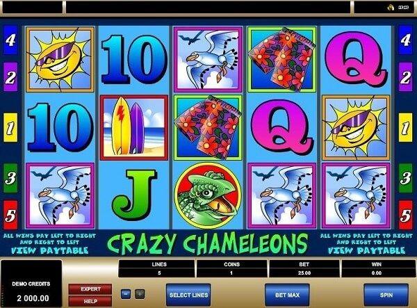 Apuesta minima Crazy Chamaleons 313750