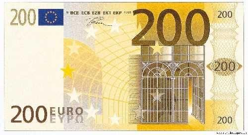 Bote de euros Santander entre