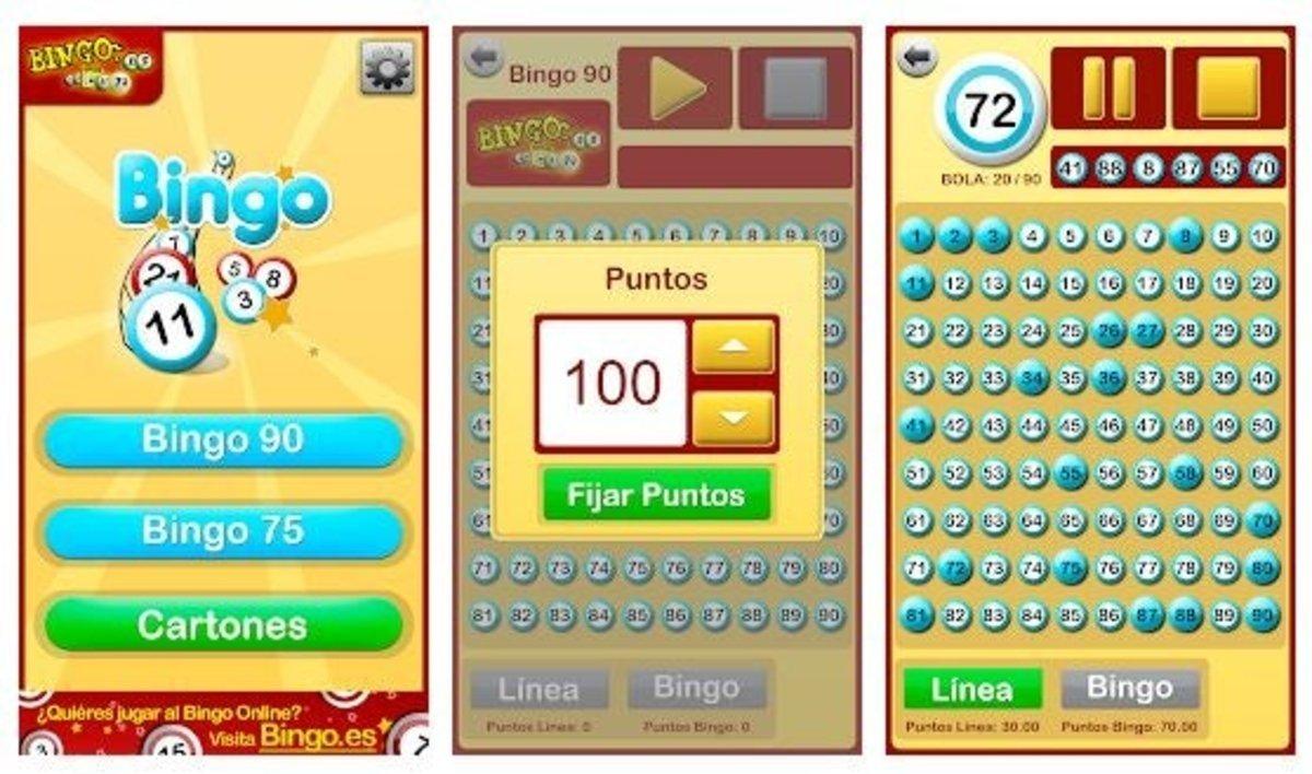 Cartones de bingo ganar Night